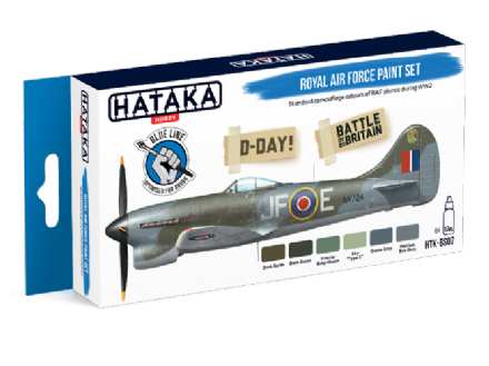 Hataka Royal Air Force Paint Set (Acrylic for Brush Painting)